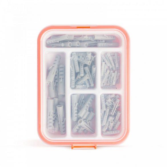 Műanyag tipli készlet - 4-10 méret - 100 db / csomag  04286