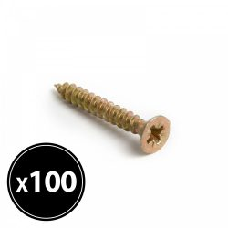 Forgácslap csavar - sárga - 3 x 25 mm - 100 db / csomag  04802B