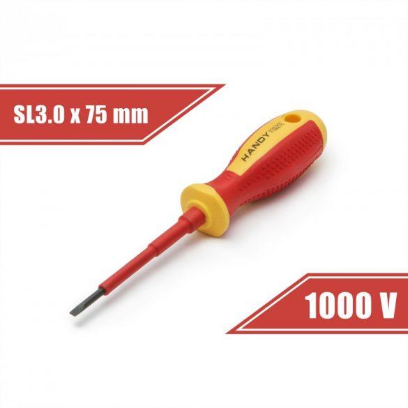 Csavarhúzó 0,5 x 3.0 x 75 mm 1000V-ig szigetelt 10560