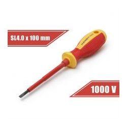 Csavarhúzó 0,8 x 4 x 100 mm 1000V-ig szigetelt 10562