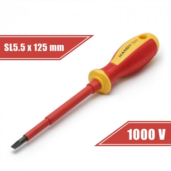 Csavarhúzó 1 x 5,5 x 125 mm 1000V-ig szigetelt 10563
