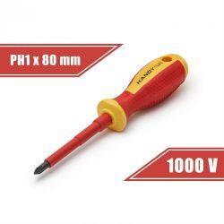 Csavarhúzó PH1 x 4,5 x 80 mm 1000V-ig szigetelt 10567