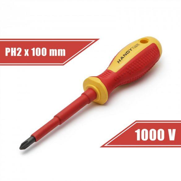 Csavarhúzó PH2 x 6 x 100 mm 1000V-ig szigetelt 10569