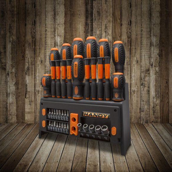 Handy 39 db-os csavarhúzó készlet állvánnyal 10741 díszdobozban.