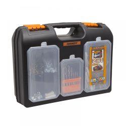2 az 1-ben műanyag fúró + alkatrész tároló táska 10958