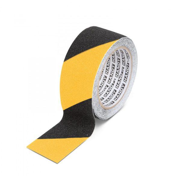 Ragasztószalag - csúszásmentes - 5 m x 50 mm - sárga / fekete