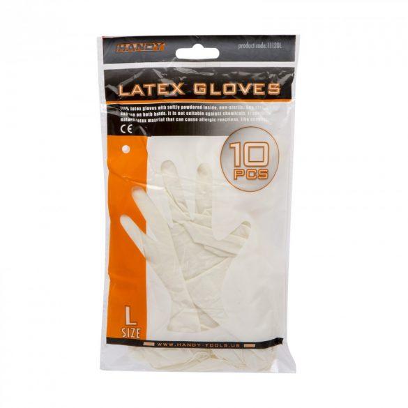 Latex kesztyű L 10 db / csomag 11120L
