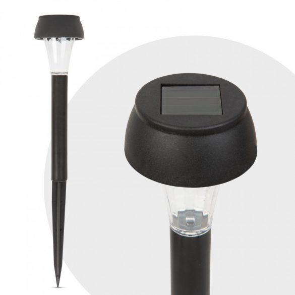 LED-es szolár lámpa - hidegfehér - fekete - műanyag