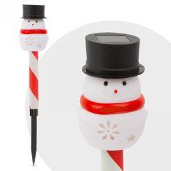 Led-es szolár lámpa - hóember, 11374A