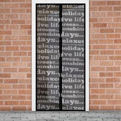 Szúnyogháló függöny ajtóra mágneses 100 x 210 cm feliratos 11398B