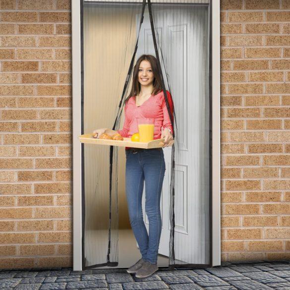 Szúnyogháló függöny ajtóra fekete, 11398BK