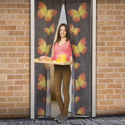 Szúnyogháló függöny ajtóra mágneses,pillangó mintás  100x210 cm, 11398C