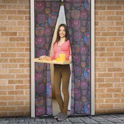 Szúnyogháló függöny ajtóra mágneses 100 x 210 cm baglyos, 11398E