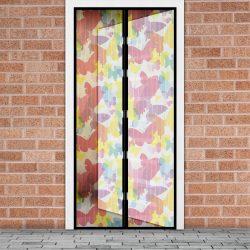 Szúnyogháló függöny ajtóra -mágneses- 100 x 210 cm - színes pillangós  11398K
