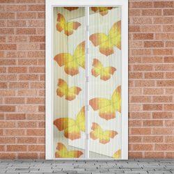Szúnyogháló függöny ajtóra mágneses 100 x 210 cm Sárga pillangós  11398L