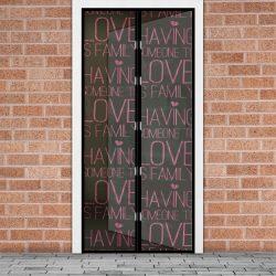 """Szúnyogháló függöny ajtóra -mágneses- 100 x 210 cm - """"Love""""  11398M"""