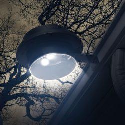 Szolár ereszcsatorna / kerítés fény 3 LED-del - fekete