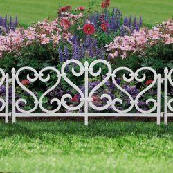 Virágágyás szegély / kerítés 62 x 32 cm műanyag, 11468A