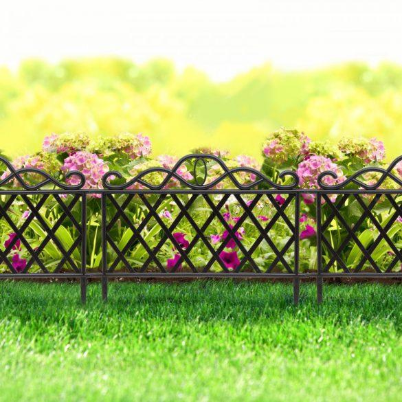 Virágágyás szegély / kerítés 45 x 35 cm műanyag, 11468B