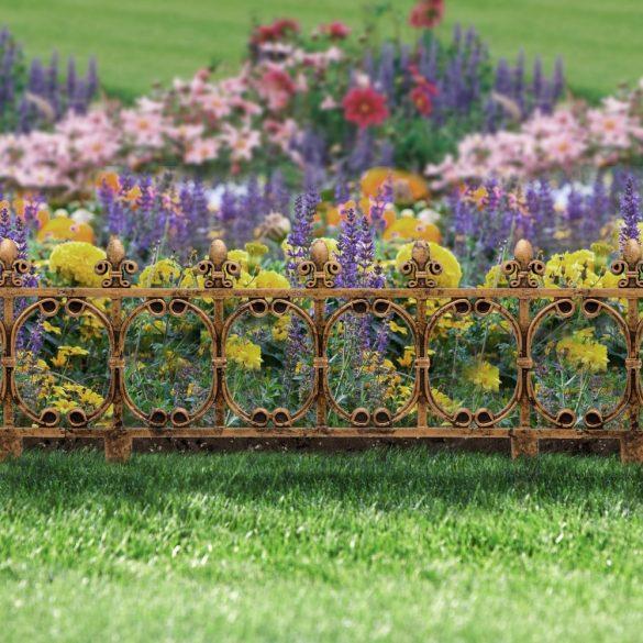 Virágágyás szegély / kerítés, 63 x 33,5 cm műanyag 11468C