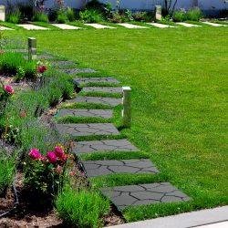 Kerti járólap - kőmintás - műanyag - szürke 11533