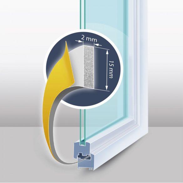 """Öntapadós ajtó- ablakszigetelő """"I"""" profil - 6 m fehér 15 mm, 11596WH-15"""