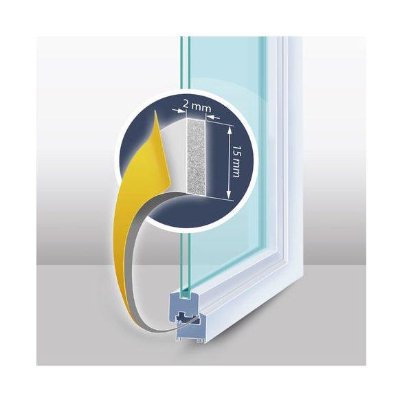 """Öntapadós ajtó- ablakszigetelő """"I"""" profil - 100 m fehér 9 mm"""