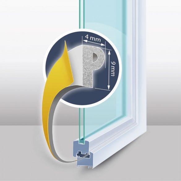 """Öntapadós ajtó- ablakszigetelő """"P"""" profil - 6 m fehér 9 mm, 11597WH"""