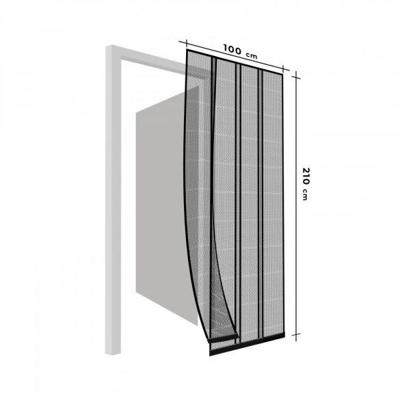 Szúnyogháló függöny ajtóra 4 db szalag max. 100 x 220 cm fehér  11608WH