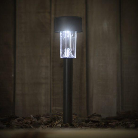 LED-es kültéri szolár lámpa műanyag - fekete 11701A