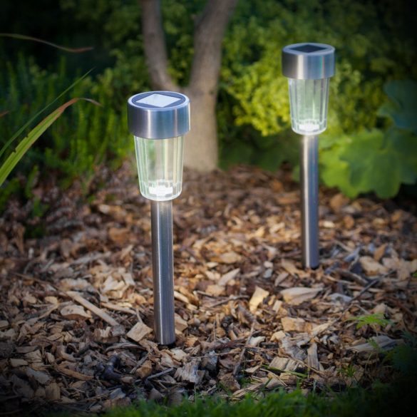 LED-es kültéri szolár lámpa fém, 11702A