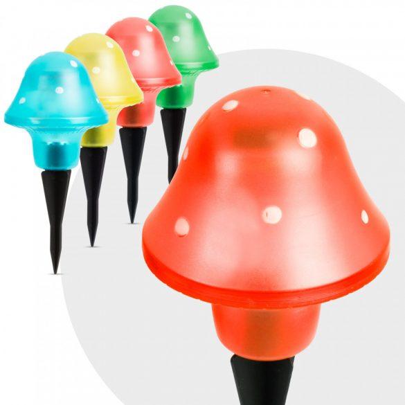 LED-es szolár gombalámpa 11 cm, 11704