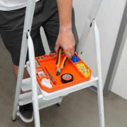 Gumi szerszámos tálca tárolórekeszekkel - vonalzóval - 26 x 23,5 x 2,5 cm 11985B