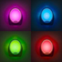 """LED éjszakai fény, színváltós - Premium """"Smooth"""" - 7 LED"""