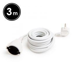 Hálózati lengő hosszabbító 3 m, H05VV-F 3 x 1,50 mm²