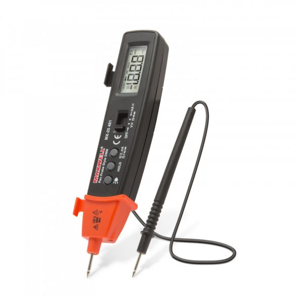 Multiméter MAXWELL Digitális AC/DC AV, FK, toll, led lámpával 25401