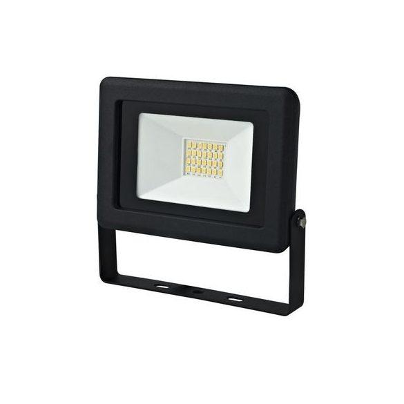 Super Slim Led reflektor fényvető 2 év garanciával 20W, 1400lm fekete 321482
