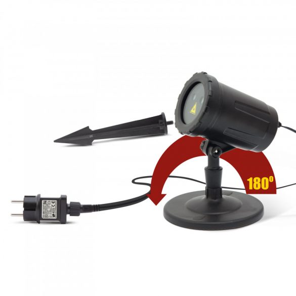 Lézer projektor leszúrótüskével, talppal zöld / piros - IP44 - 240 V