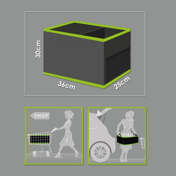 Autós rendszerező csomagtartóba 2 tárolórekesszel 36 x 30 x 25 cm  54924A