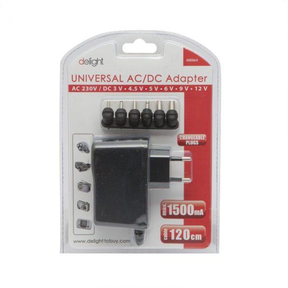 Delight Univerzális hálózati adapter 1500 mA 55056B