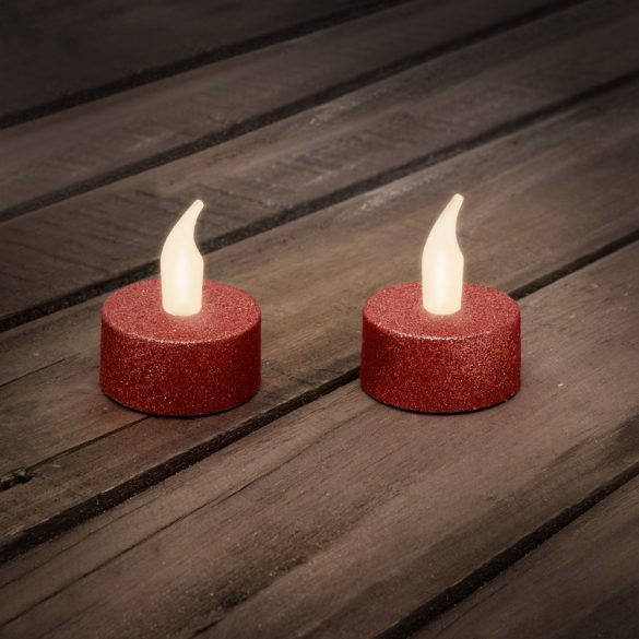 LED-es teamécses AJÁNDÉK ELEMMEL piros 2 db / bliszter