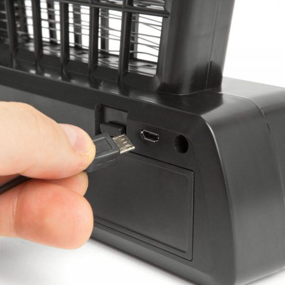 Asztali UV rovarcsapda - akkumulátoros és USB-s, fekete 55668