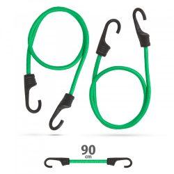 Professzionális gumipók szett - zöld - 90 cm x 8 mm - 2 db / csomag 55761C