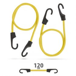 Professzionális gumipók szett - sárga - 120 cm x 8 mm - 2 db / csomag 55761D