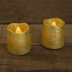 LED gyertya arany színű  2 db / bliszter