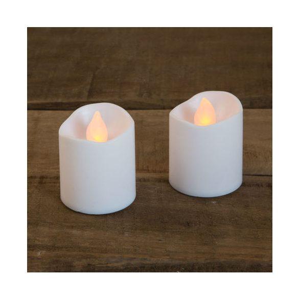 LED gyertya  fehér színű 2 db / bliszter