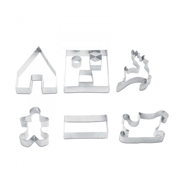 Sütikiszúró forma - 3D mézeskalács házikó 9 db-os