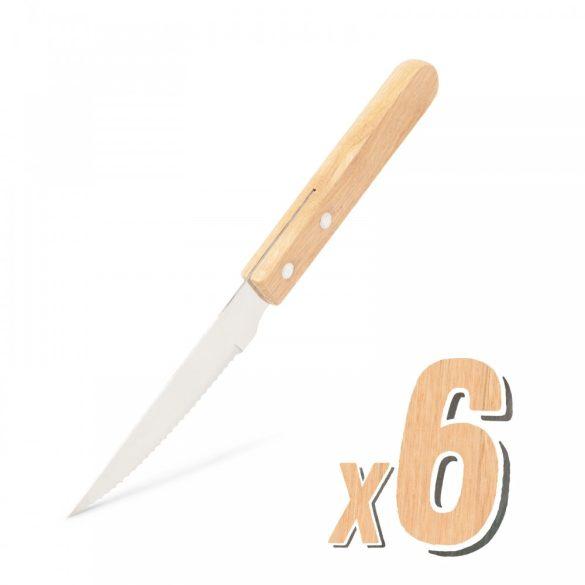 Grill kés - 6 db - fa nyéllel 56306B