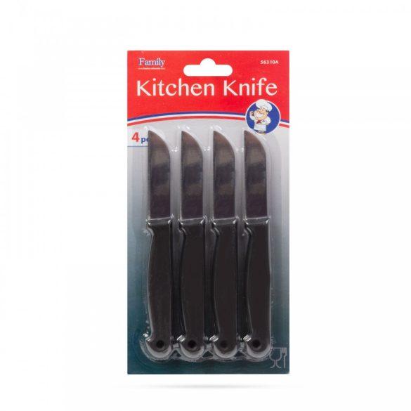 Konyhai kés - fekete - 4 db 56310A