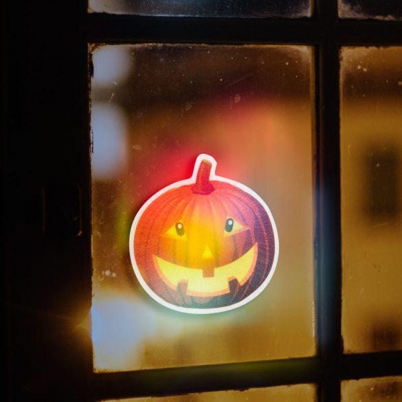 Halloween-i RGB LED dekor - öntapadós - tök 56512B